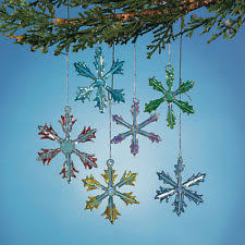glass snowflake ornaments ebay