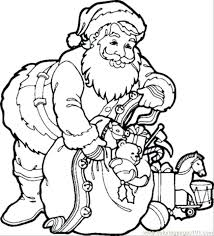 coloring pages to print of santa coloring pictures of santa claus coloring free printable with sleigh
