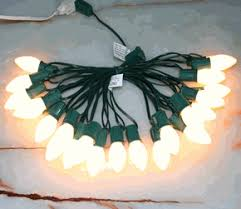 white c9 ceramic lights green or white wire w 25