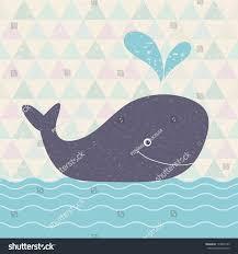 whale baby shower retro whalebaby shower invitation beautiful stock vector