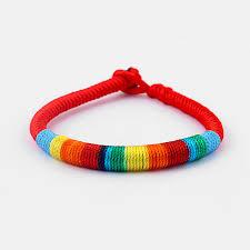 friendship bracelet rainbow images Online shop fashion rainbow korea silk thread string friendship jpg