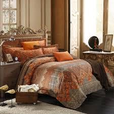 Tribal Pattern Comforter Bedding Sets Brown And Orange Bedding Sets Qsaagt Brown And Orange