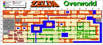 legend of zelda map with cheats legend of zelda overworld map