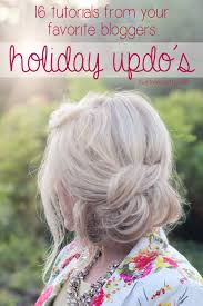 16 holiday updo tutorials from your favorite bloggers babble