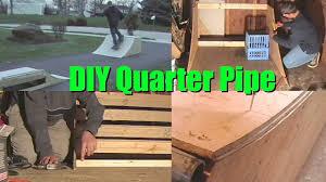 how to build 3 u0027 or 4 u0027 quarter pipe mini skate ramp diy step by