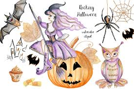 kids halloween clipart halloween clip art watercolor with glitter funny halloween