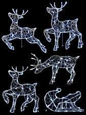 Outdoor Christmas Decorations Johannesburg by Outdoor Christmas Reindeer Outdoor Christmas Decorations Ebay