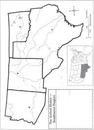 Blank Map Of Us The Western Us States If Watersheds And Ecosystems Were Taken Into
