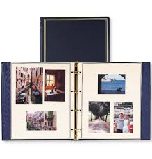 Leather Photo Albums Engraved Presidential Oversize Personalized Photo Album Exposures
