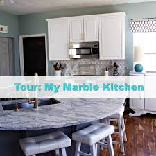 How To Care For Marble Countertops In Kitchen My Carrara Marble Kitchen And Tips For Choosing Marble Countertops