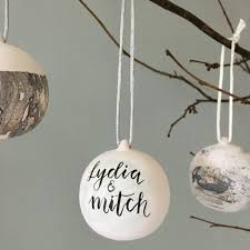 personalised ceramic bauble by little bird designs