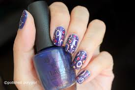 opi turn on the northern lights nail art irregular dots on opi turn on the northern lights