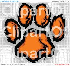 clipart tiger paw print royalty free vector illustration by