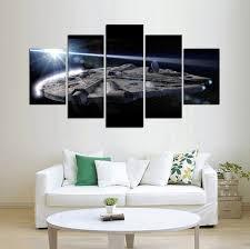 Home Decor Star War Millennium Falcon 5 Panel Canvas Home Decor