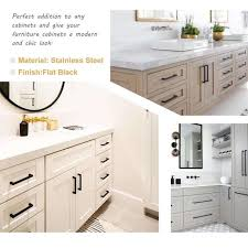white kitchen cabinets with black drawer pulls goldenwarm black drawer pulls kitchen cabinet handles 10 pack