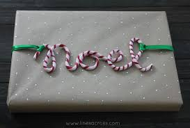 cursive candy cane clay ornaments lines across