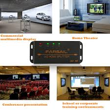 home theater training amazon com farsail 1 to 2 hdmi splitter 1x2 hdmi dual monitor