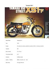 xs650 model identification year vin workshop manuals and other