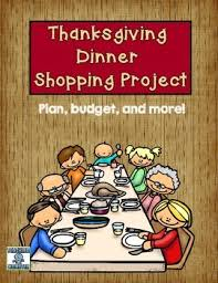 thanksgiving dinner math project by krista mahan teaching momster