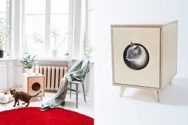 designer katzentoilette wohnen mit katzen das sind die schönsten katzenmöbel craftifair