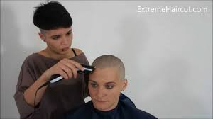 yasmine u0027s shaved mohawk extremehaircut com model youtube