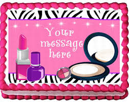 makeup cake toppers edible makeup topper etsy