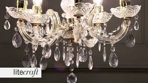 Marie Therese Crystal Chandelier Marie Therese 5 Light Gold Chandelier Litecraft Lighting Your