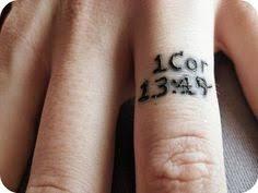 6 bible verse finger tattoos design