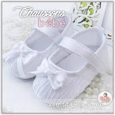 chaussures blanches mariage chaussures chaussons de baptême bébé fille mariage cérémonie