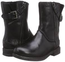 womens black biker boots bugatti menswear online shop bugatti women u0027s j29561 warm lined