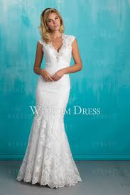 informal wedding dresses v neck white lace appliqued informal wedding dress gowns
