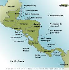 south america map belize of south america and central america