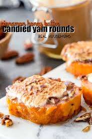 cinnamon honey butter candied yam rounds real housemoms
