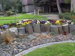 Rock Garden Beds Pictures Of Flower Beds With Rocks
