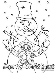 snowman made by a little coloring pages hellokids com