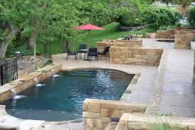 Small Backyard Swimming Pool Ideas Favorable Small Backyard Pool Design Ideas With Waterfall Also