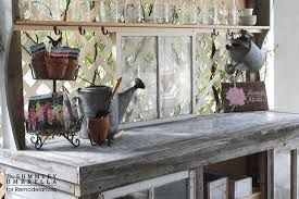 Bench 32 Remodelaholic How To Build A Potting Bench From Reclaimed Wood