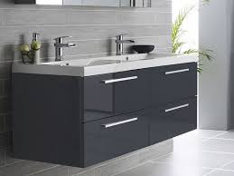 double sink wall hung vanity unit 46 maple grey double sink wall hung bathroom vanity intended for