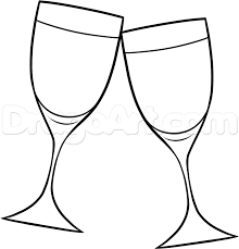 champagne glass cartoon how to draw wine glasses step by step food pop culture free