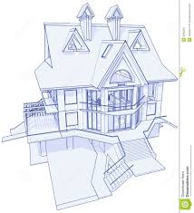 blueprint house plans modern house blueprint royalty free stock image image 6360246