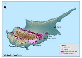 Map Of Cyprus Cyprus Copper Sites And Bronze Age Settlements Ancient History