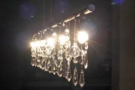 Crystal Beads For Chandelier Diy Linear Crystal Chandelier