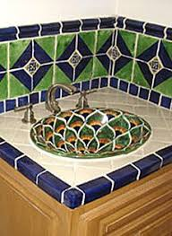 Mexican Tile Bathroom Ideas Colors 109 Best Mexican Sinks Images On Pinterest Haciendas Bathroom