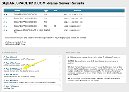 Ip Address Map Squarespace Help Connecting A 101domain Domain To Your
