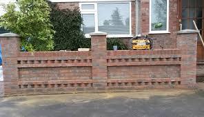 Garden Brick Wall Design Ideas Front Garden Brick Wall Designs Front Garden Wall Designs