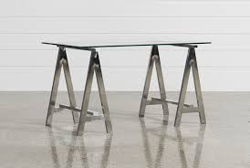 Glass Desk Office Furniture by Jenica Glass Desk Living Spaces