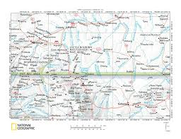 Map Of Montana And Wyoming by Little Bighorn River Rosebud Creek And Tongue River Drainage
