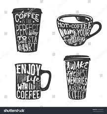 coffee cup silhouette png creative set lettering coffee cup vector stock vector 516008665
