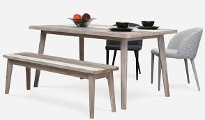 Dining Room Sets With Bench Bench Dining Table With 2 Benches Modern Line Furniture