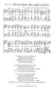 thanksgiving hymns all my heart this night rejoices version 1
